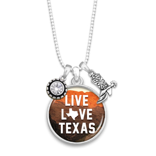 Texas State Pride ''Live Love'' Necklace