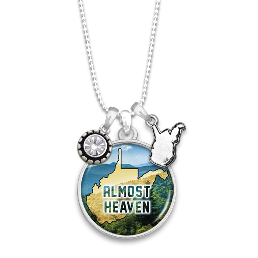 West Virginia State Pride ''Almost Heaven'' Necklace