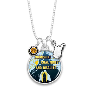West Virginia State Pride ''Moonshine Coal Mines'' Necklace
