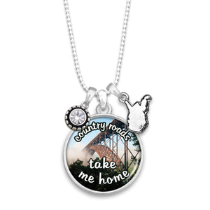 West Virginia State Pride ''Country Roads'' Necklace
