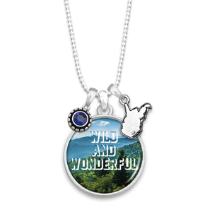 West Virginia State Pride ''Wild and Wonderful'' Necklace