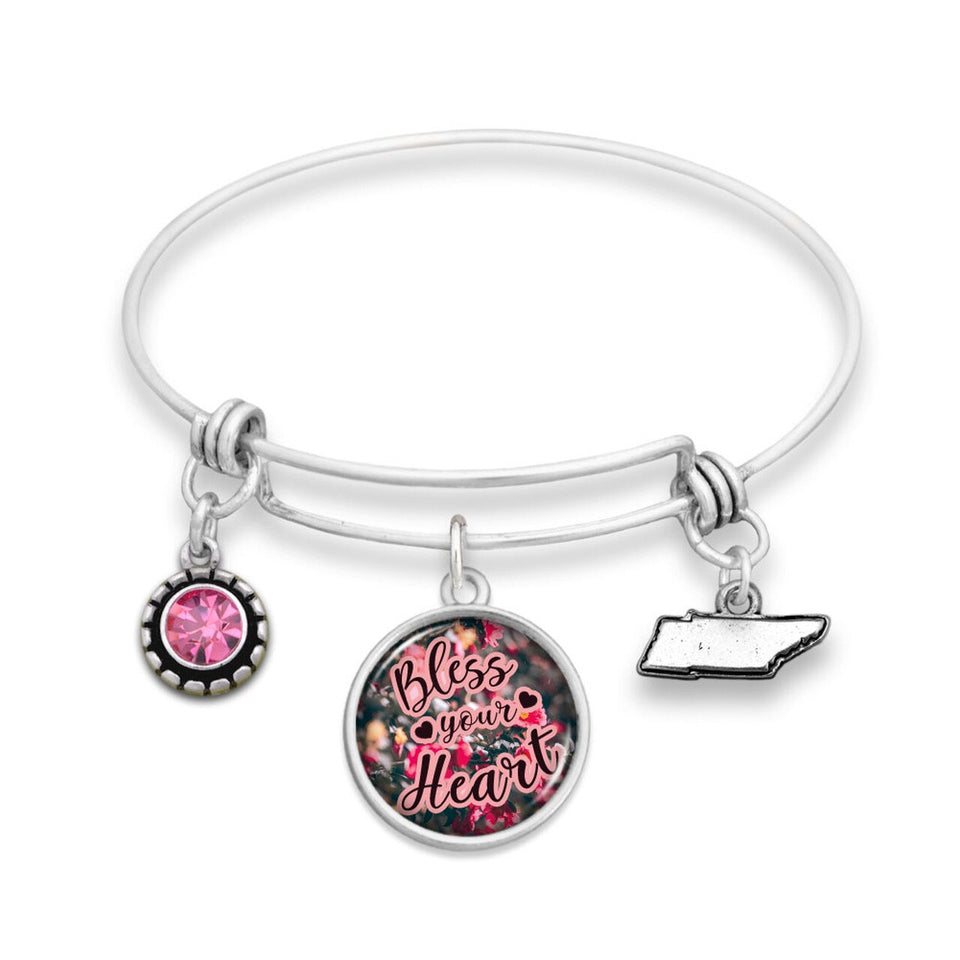 Tennessee State Pride ''Bless Your Heart Wire Bangle'' Bracelet