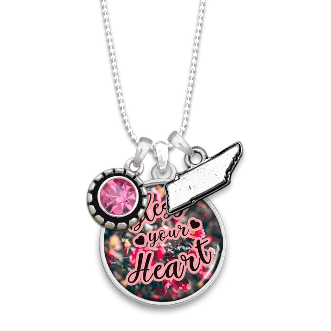 Tennessee State Pride ''Bless Your Heart'' Necklace