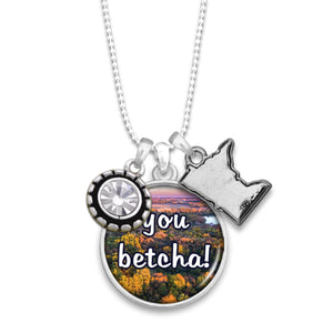 Minnesota State Pride ''You Betcha!'' Necklace