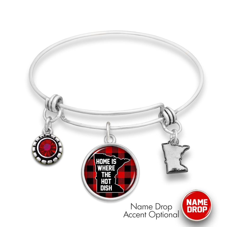 Minnesota State Pride ''Home Is Where The Hotdish Wire Bangle'' Bracelet