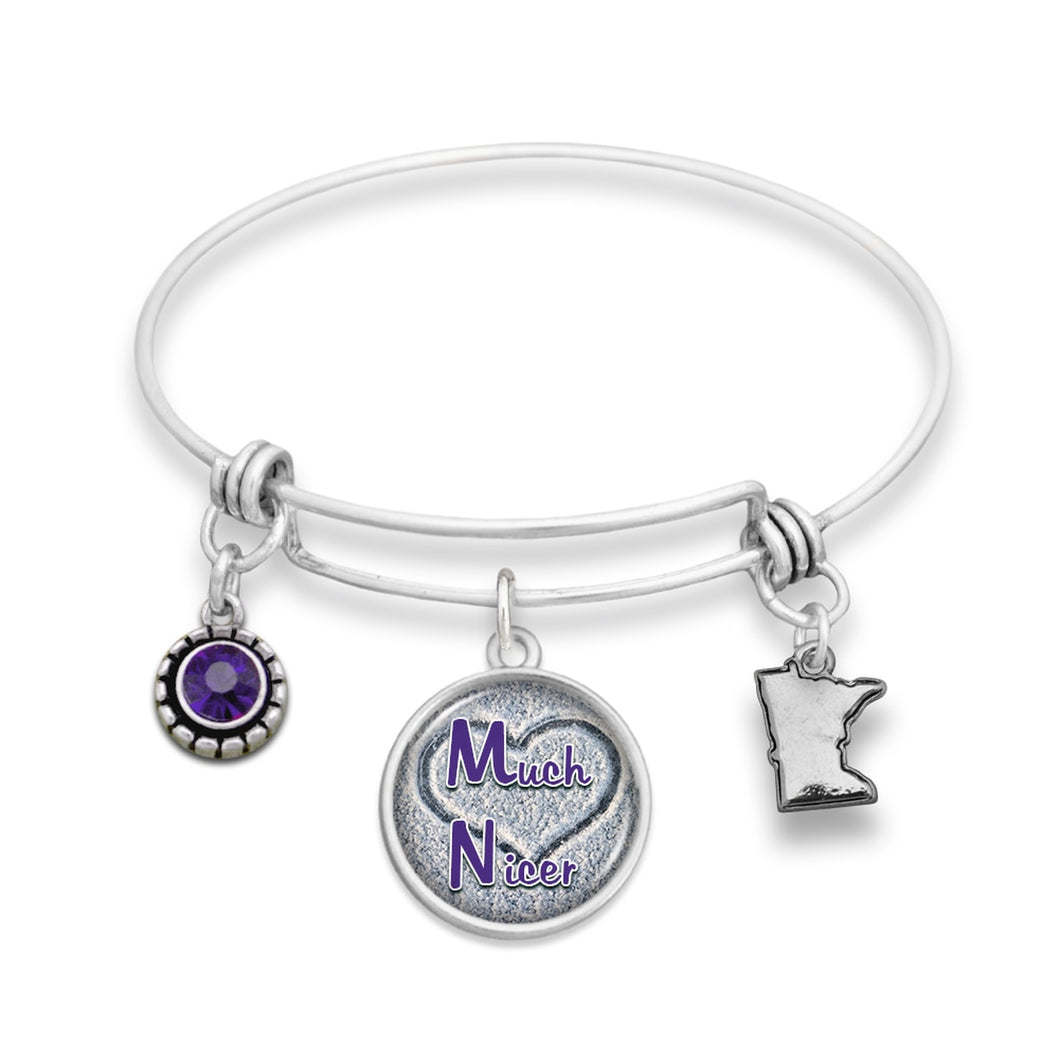 Minnesota State Pride ''Much Nicer Wire Bangle'' Bracelet