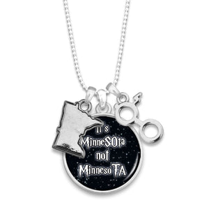 Minnesota State Pride ''It's Not'' Necklace