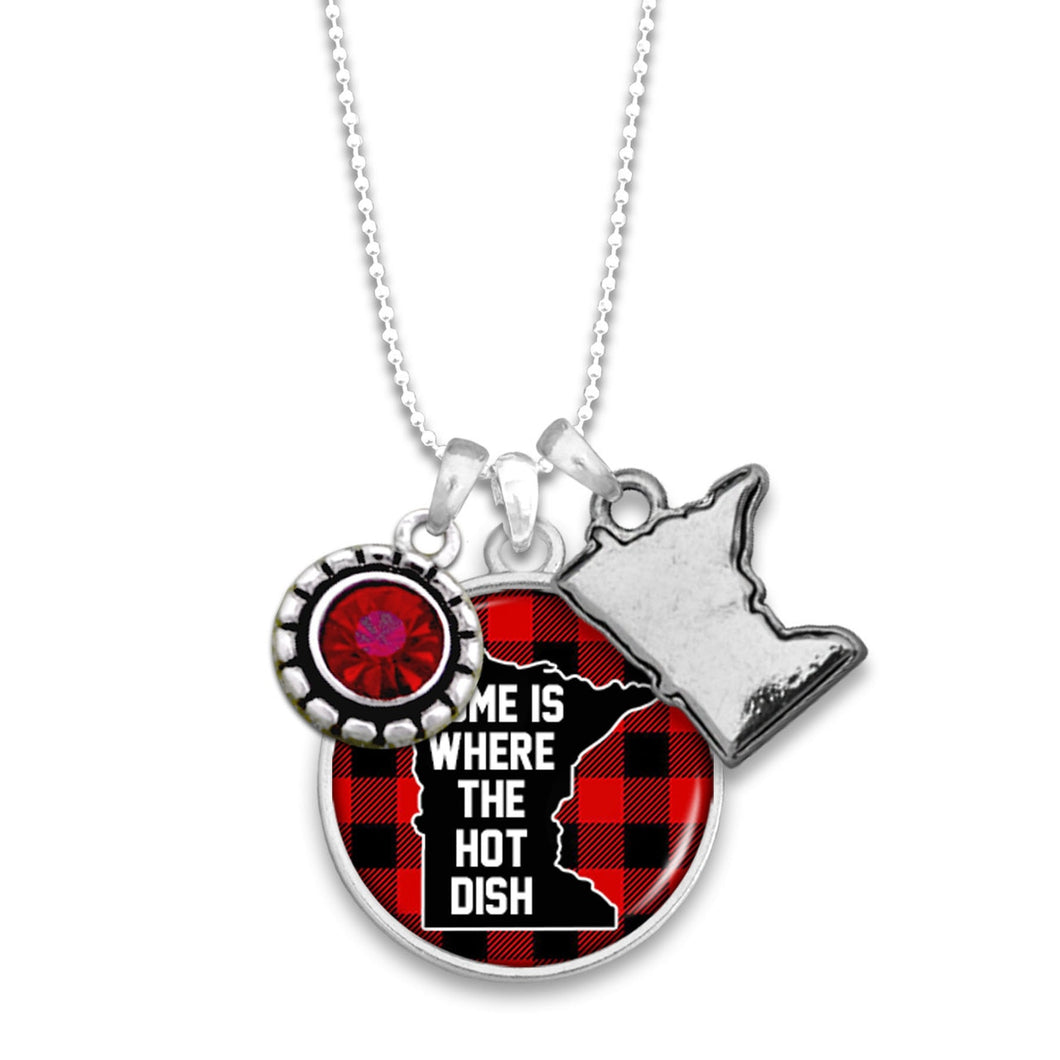 Minnesota State Pride ''Home Is Where The Hotdish'' Necklace