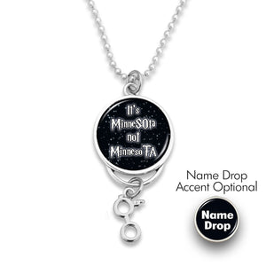 Minnesota State Pride ''It's Not Rearview Mirror Charm'' Necklace