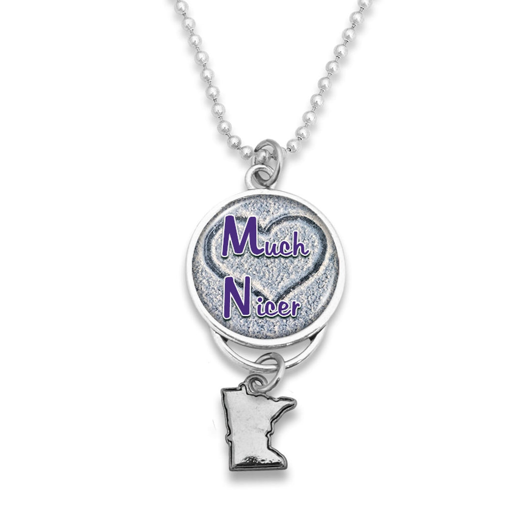 Minnesota State Pride ''Much Nicer Rearview Mirror Charm'' Necklace