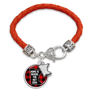 Texas State Pride ''Leather Live Love'' Bracelet