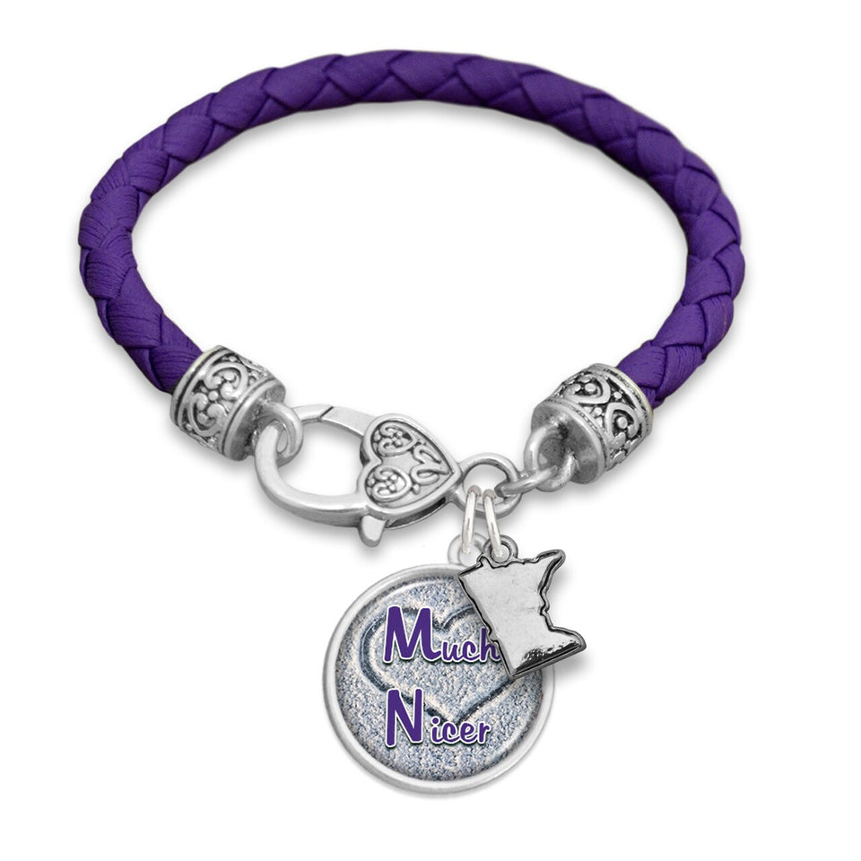 Minnesota State Pride ''Much Nicer Leather'' Bracelet