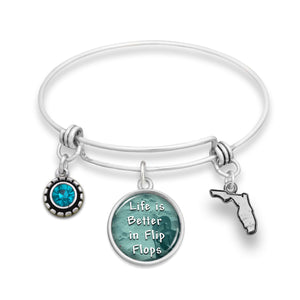 Florida State Pride ''Wire Bangle And The Livin' Is Easy'' Bracelet