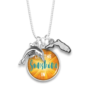 Florida State Pride ''Let The Sunshine In'' Necklace