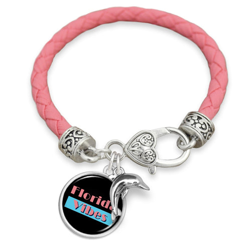 Florida State Pride ''Leather Let The Sunshine In'' Bracelet