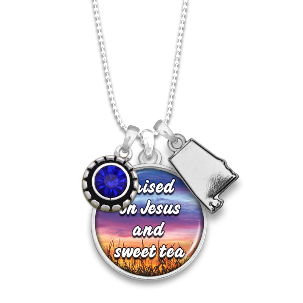 Alabama State Pride ''Jesus and Sweet Tea'' Necklace