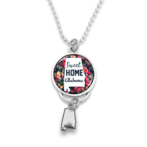 Alabama State Pride ''Car Charm- Sweet Home Rearview Mirror Charm'' Necklace