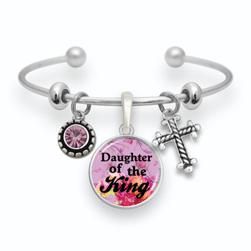 Daughter Of The King Cuff Bangle Bracelet