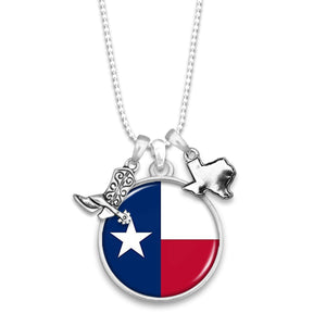 Texas State Pride ''Flag'' Necklace