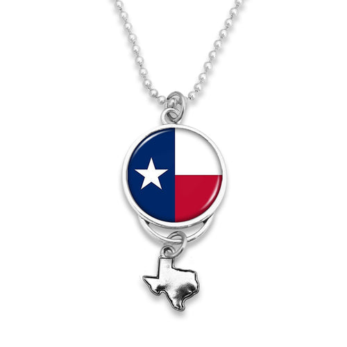 Texas State Pride ''Car Charm- Flag Rearview Mirror Charm'' Necklace
