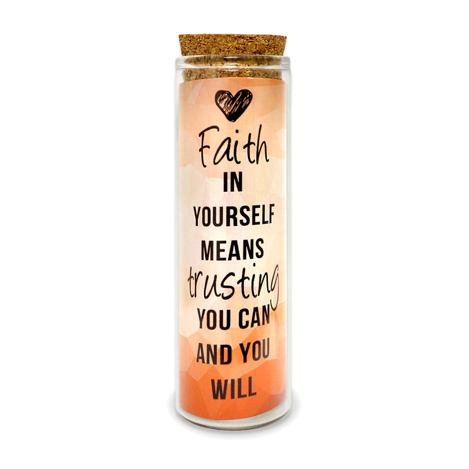 Faith In Yourself, Trusting You Can, You Will Message Charm Earrings