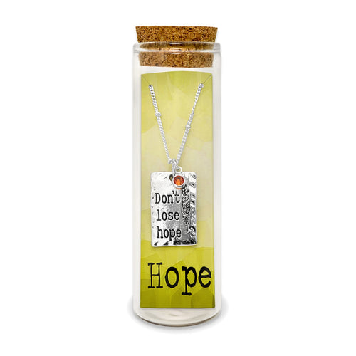 Stay Strong, Don't Lose Hope Message Charm Necklace