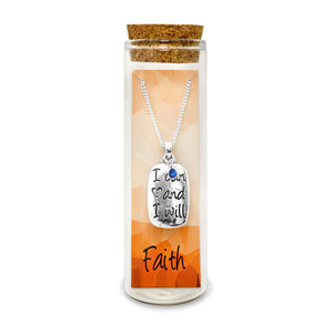 Faith In Yourself, Trusting You Can And You Will Message Charm Necklace