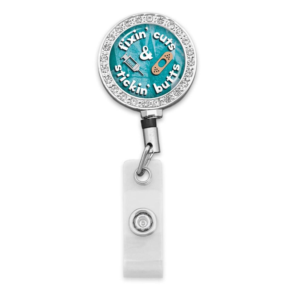 Nurses Do It Better Fixin' Cuts Badge Reel