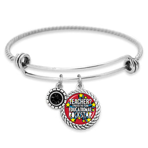 Teach.Love.Inspire Collection- Educational Rockstar Bracelet