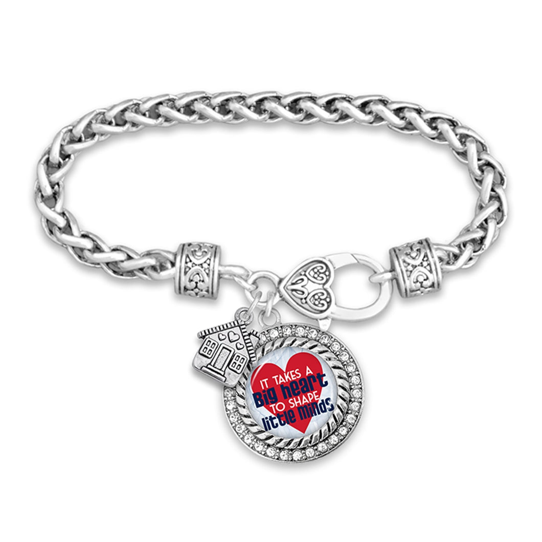 Teach.Love.Inspire Collection- Big Hearts Little Minds Bracelet