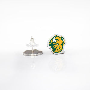 North Dakota State Bison Post Earrings