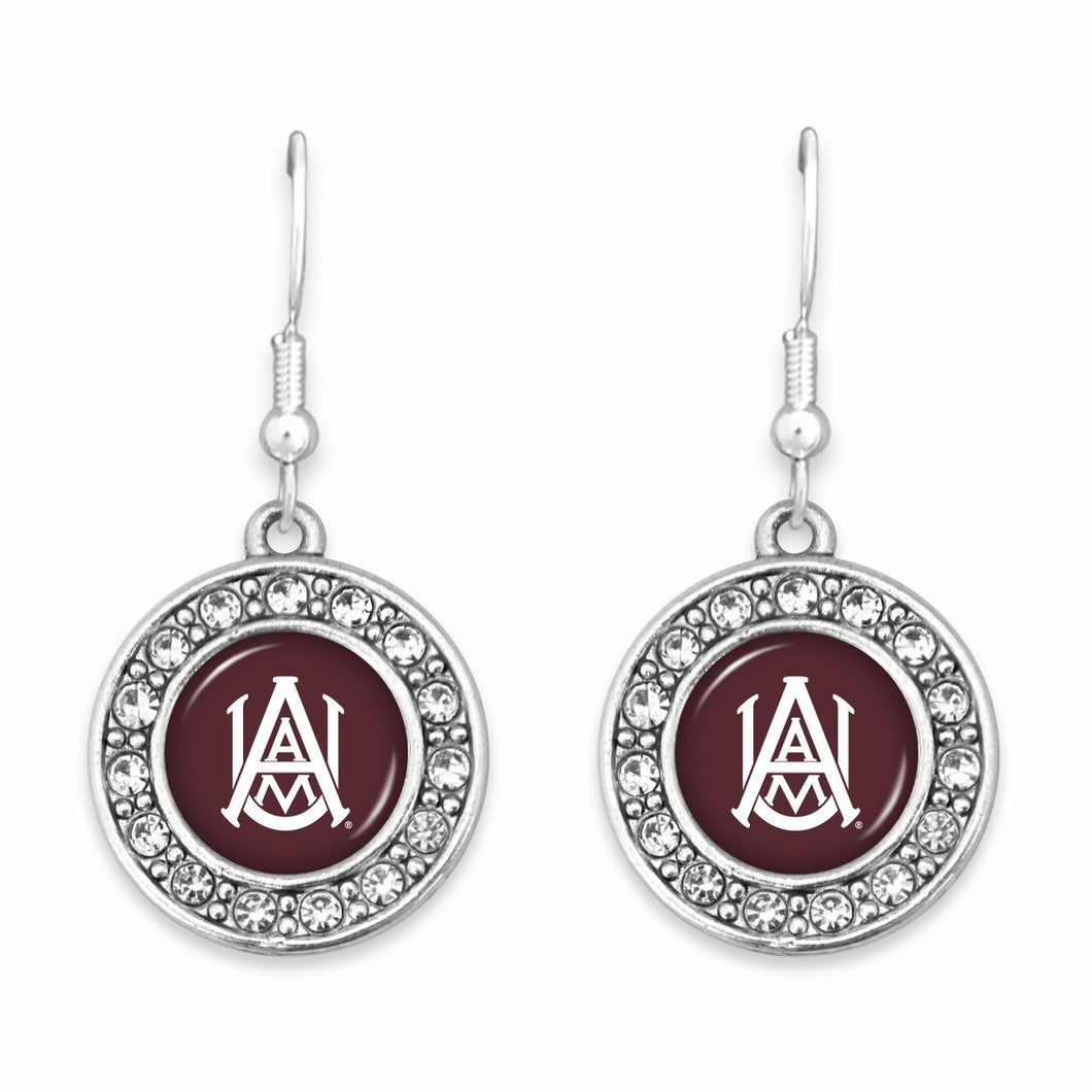 Alabama A&M Golden Flashes Abby Girl Round Crystal Earrings