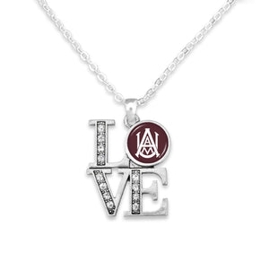 Alabama A&M Bulldogs LOVE Necklace