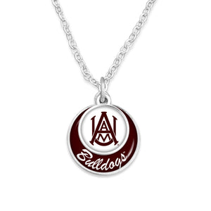 Alabama A&M Bulldogs Stacked Disk Necklace
