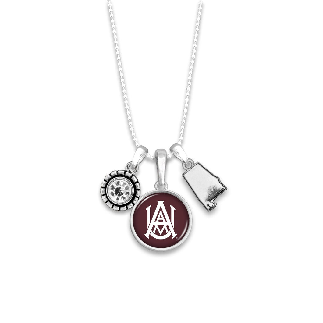 Alabama A&M Bulldogs Home Sweet School Necklace