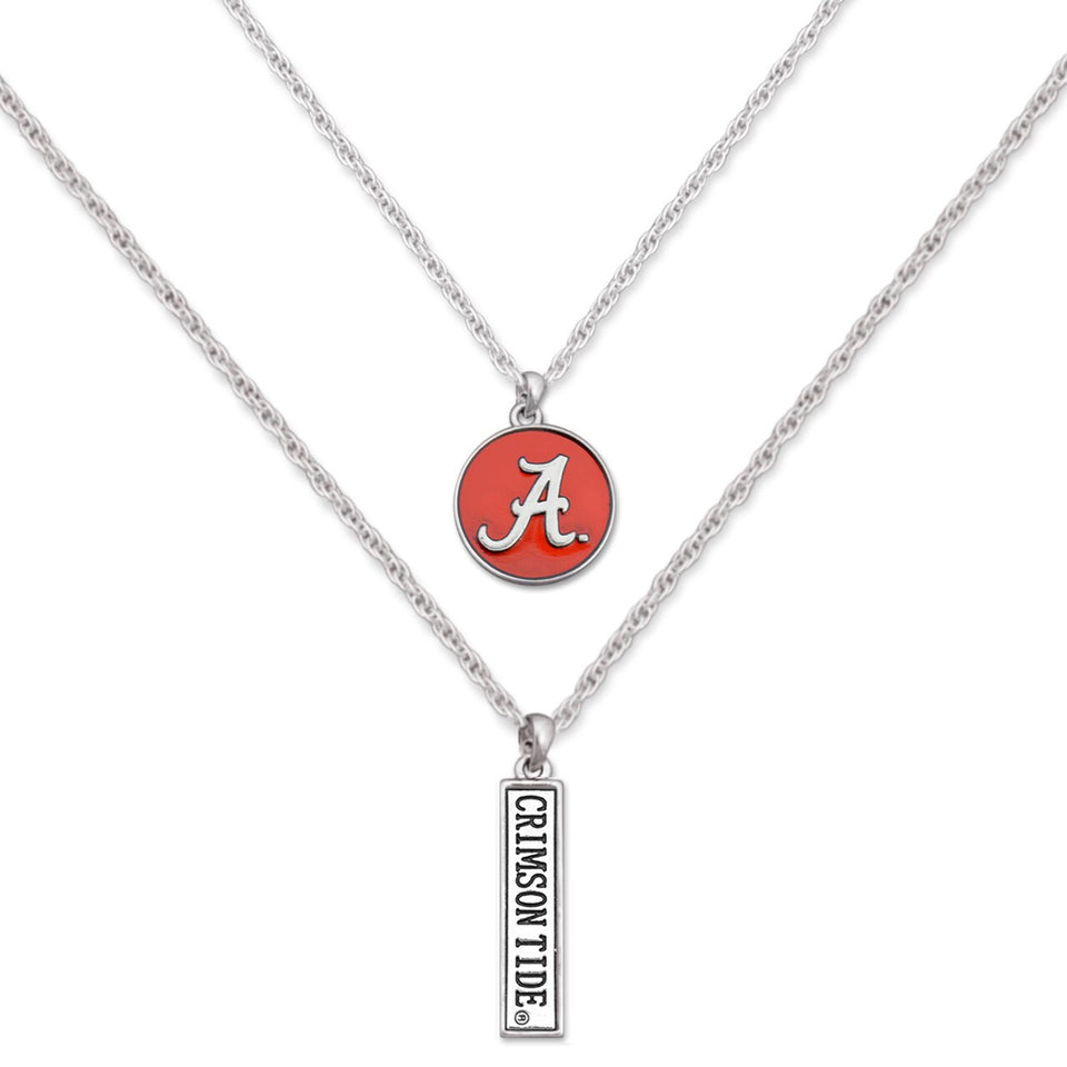 Alabama Crimson Tide Double Down Necklace