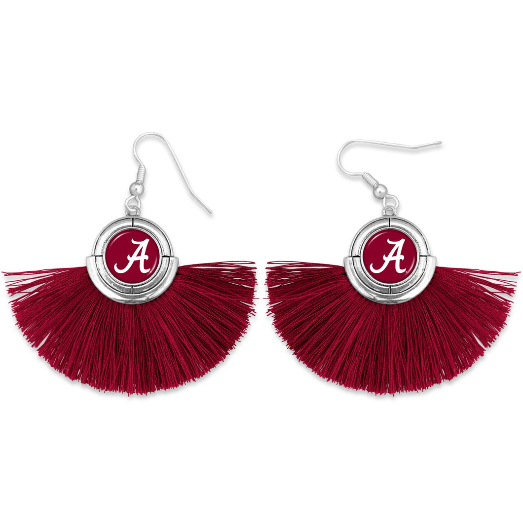 Alabama Crimson Tide Tassel Earrings