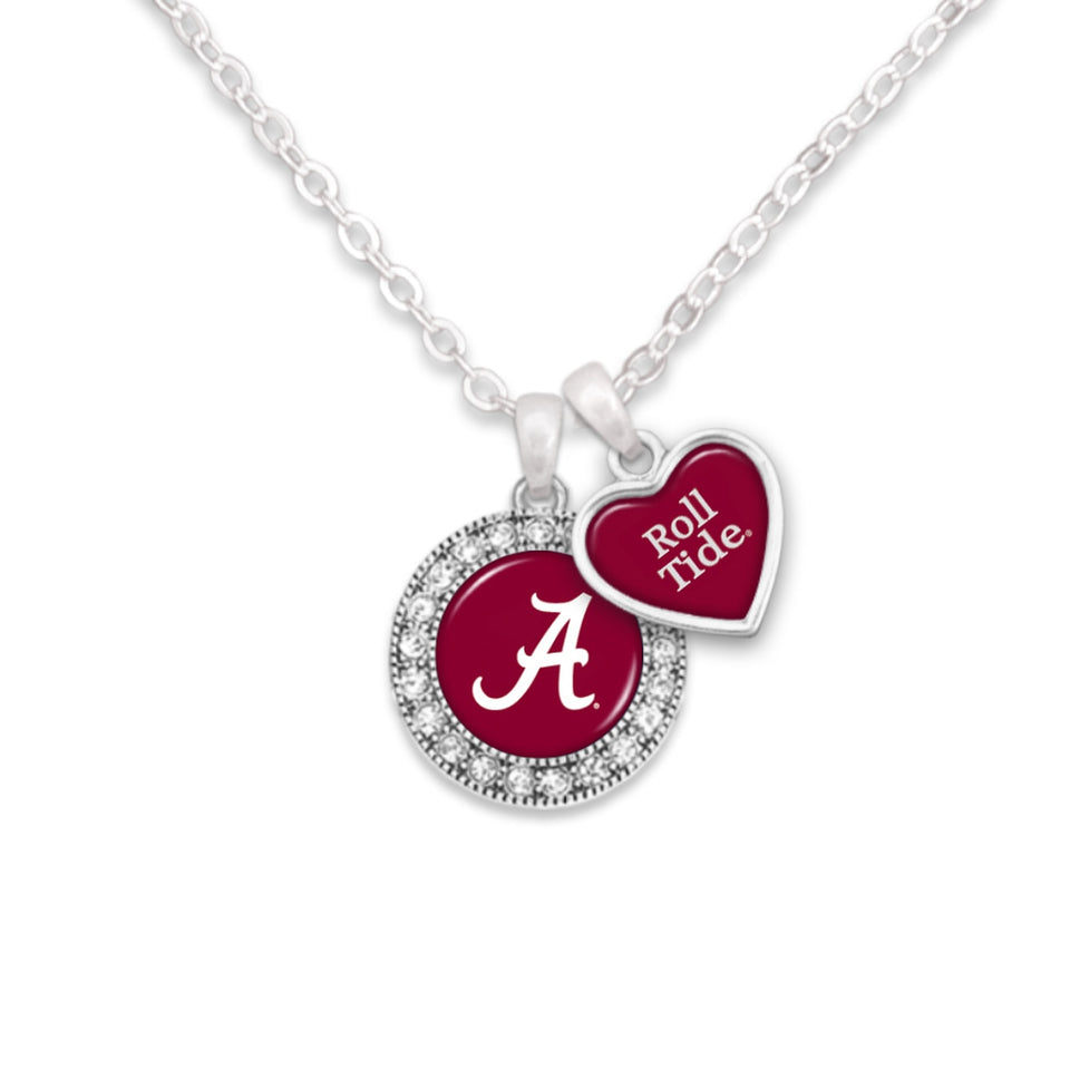 Alabama Crimson Tide Spirit Slogan Necklace