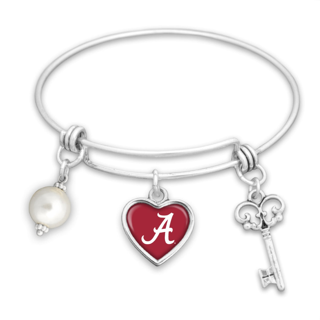 Alabama Crimson Tide Pearl Bracelet
