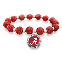 Alabama Crimson Tide Bracelet- Team Color/ Team Bling
