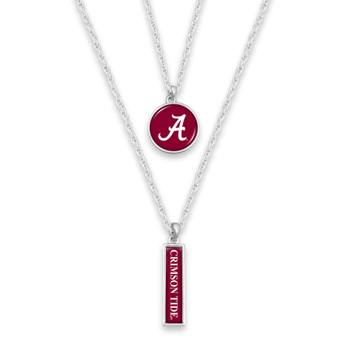Alabama Crimson Tide Double Layer Necklace