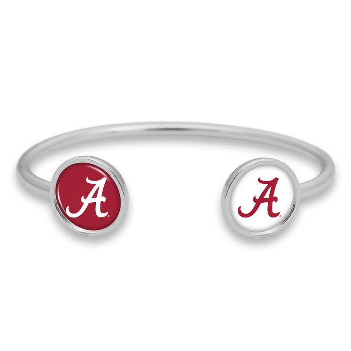 Alabama Crimson Tide Duo Dome Cuff Bracelet