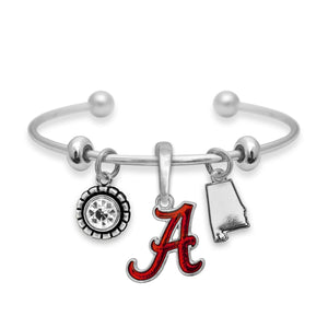 Alabama Crimson Tide Home Sweet School Bracelet