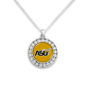 Alabama State Hornets Kenzie Round Crystal Charm Necklace