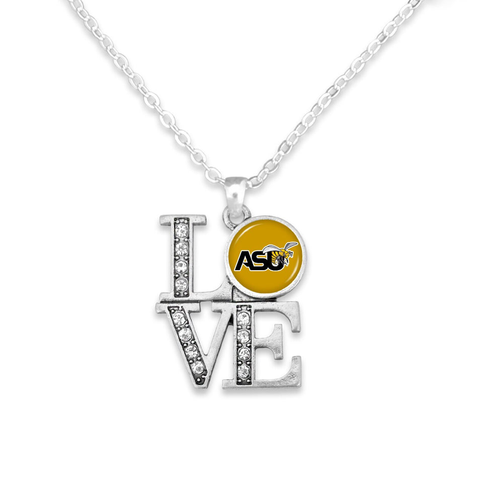 Alabama State Hornets LOVE Necklace