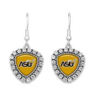 Alabama State Hornets Brooke Crystal Earrings