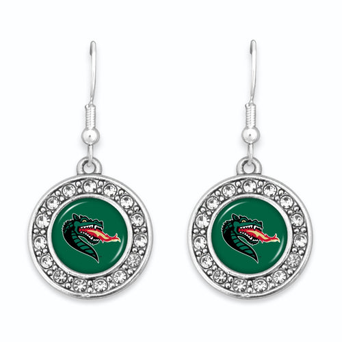 Alabama-Birmingham Blazers Abby Girl Round Crystal Earrings