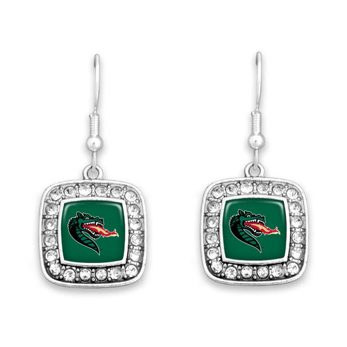 Alabama-Birmingham Blazers Square Crystal Charm Kassi Earrings