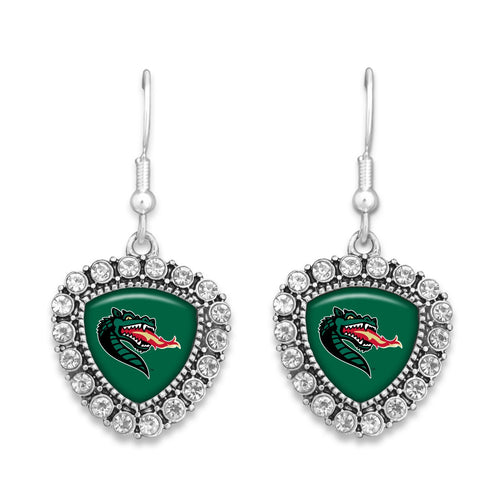 Alabama-Birmingham Blazers Brooke Crystal Earrings
