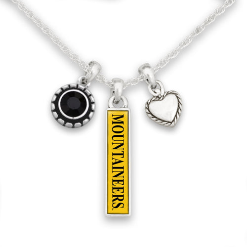 Appalachian State Mountaineers Triple Charm Necklace